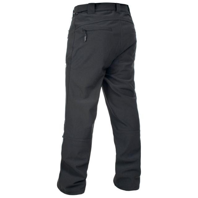 Hemic Men's Water Resistant Softshell Trousers in Black