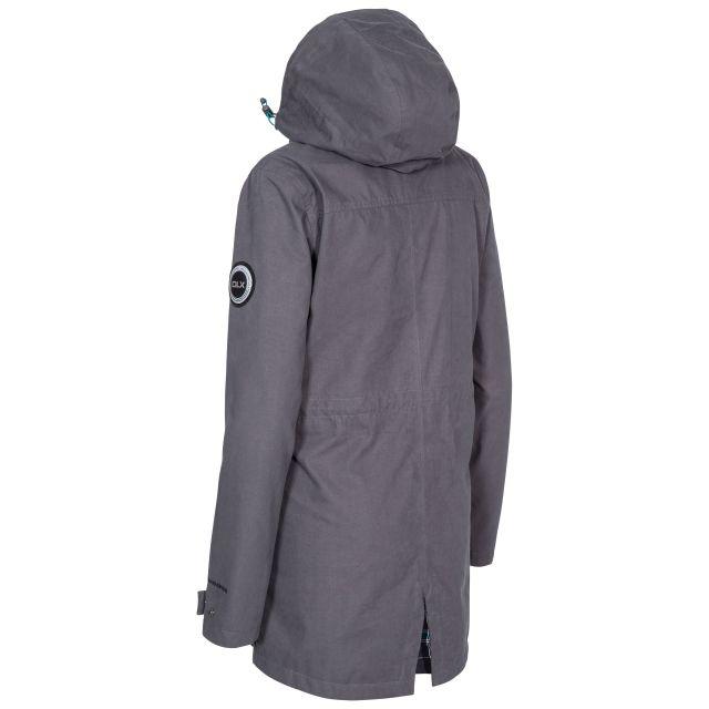 DLX Womens Long Waterproof Jacket Henriette in Grey