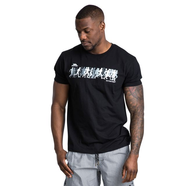 Hiker Men's Printed Casual T-Shirt in Black