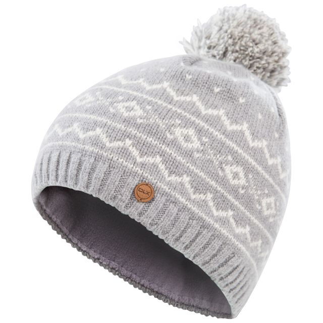 Holbray Unisex DLX Knitted Bobble Hat in Grey