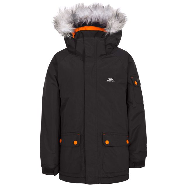 Holsey Boys' Waterproof Parka Jacket in Black