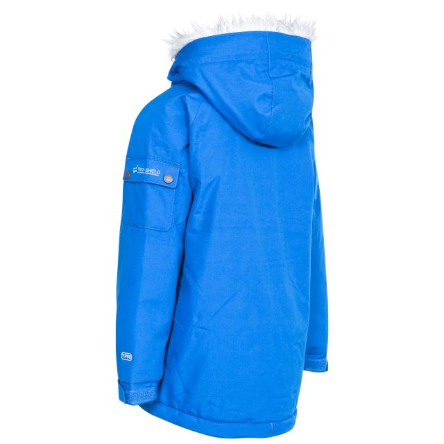 Holsey Boys' Waterproof Parka Jacket in Blue