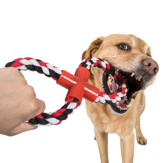 Hooper Rope Dog Toy in Black