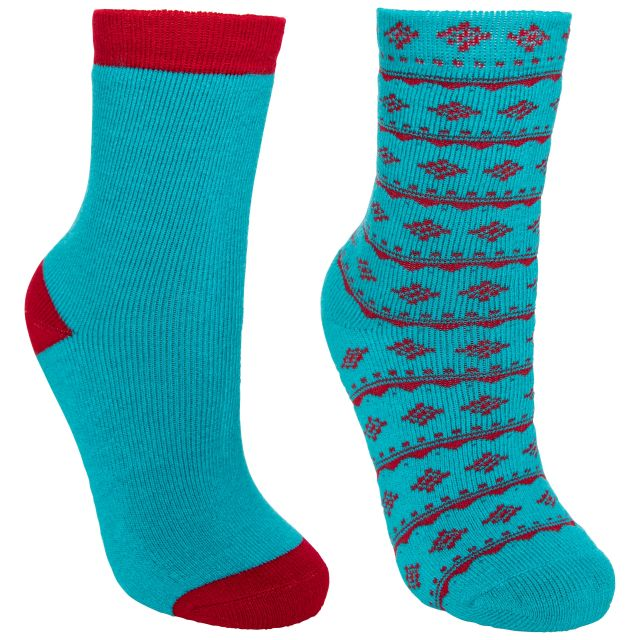 Hosie Kids' Printed Walking Socks - 2 Pack in Blue