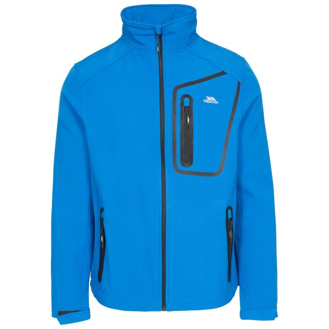 Hotham Men's Lightweight Softshell Jacket in Blue