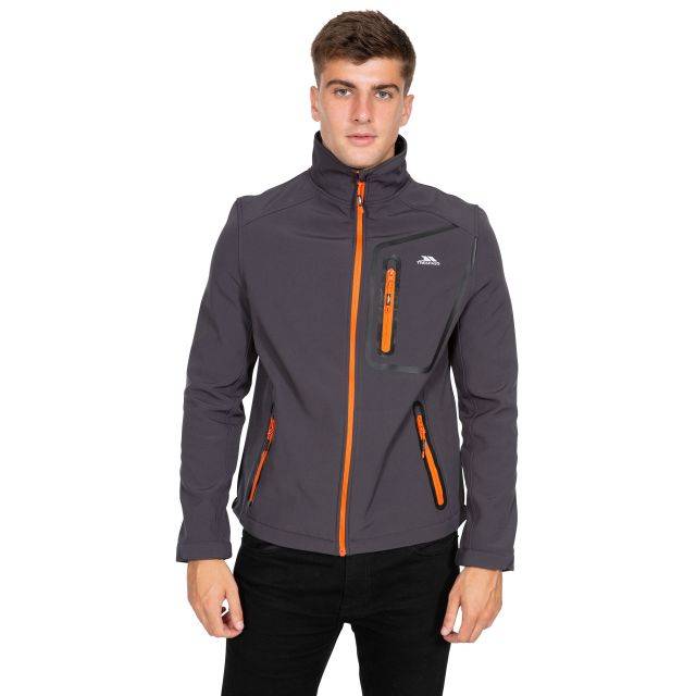 Hotham Men's Lightweight Softshell Jacket in Grey