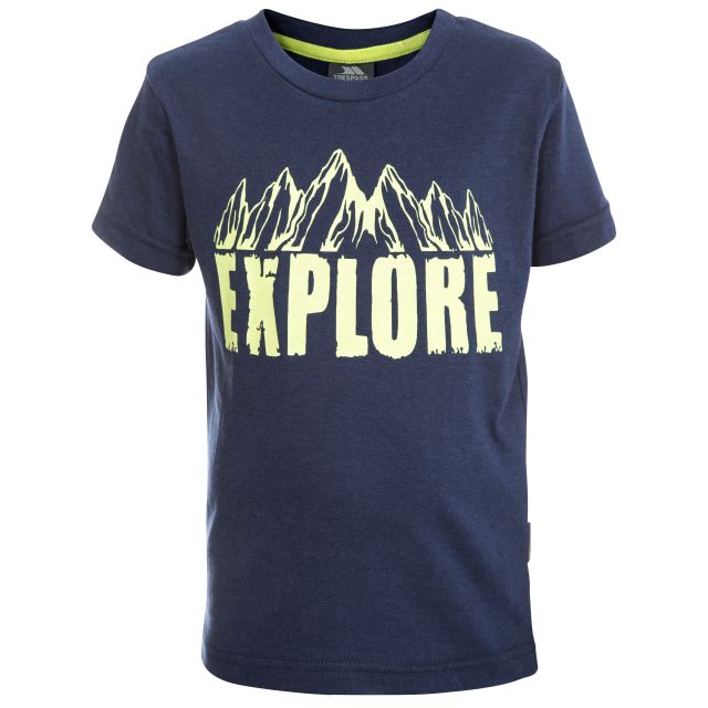 Howl Kids' Printed Short Sleeved T-Shirt in Navy