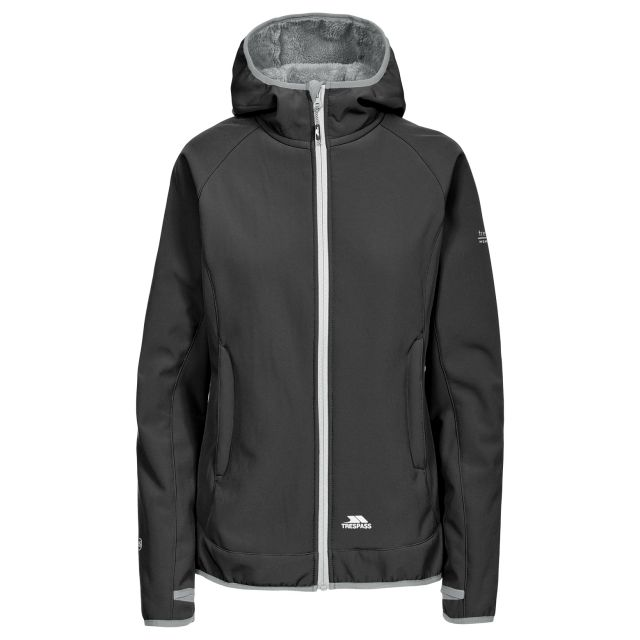 Imani Women's Windproof Breathable Softshell Jacket in Black