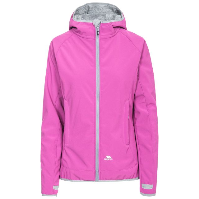 Imani Women's Windproof Breathable Softshell Jacket in Purple