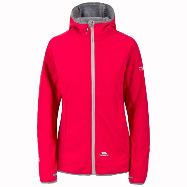Imani Women's Windproof Breathable Softshell Jacket in Pink