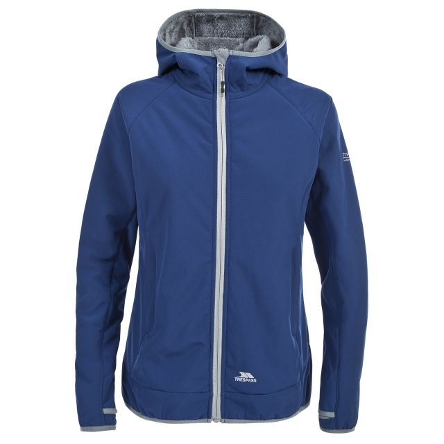 Trespass Womens Softshell Jacket Windproof Breathable Imani in Navy