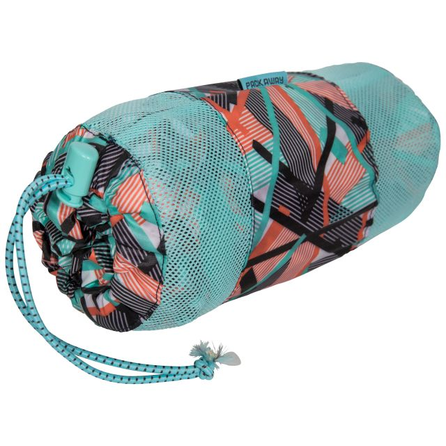 Trespass Womens Waterpoof Packaway Jacket Indulge in Turquoise
