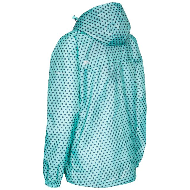 Trespass Womens Waterpoof Packaway Jacket Indulge in Light Blue