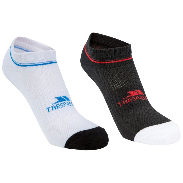 Isolate Adults' Trainer Socks - 2 Pack in Assorted