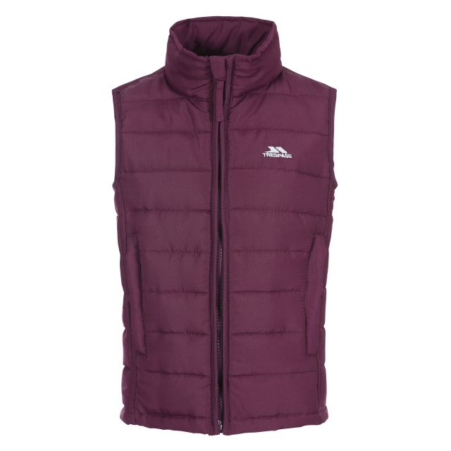 Jadda Kids' Quilted Gilet in Purple