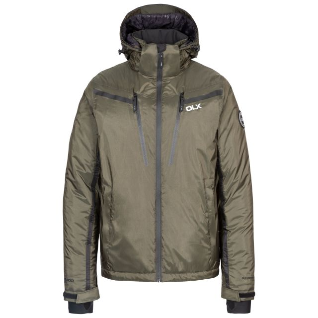 Jasper Men's DLX Waterproof Ski Jacket in Olive