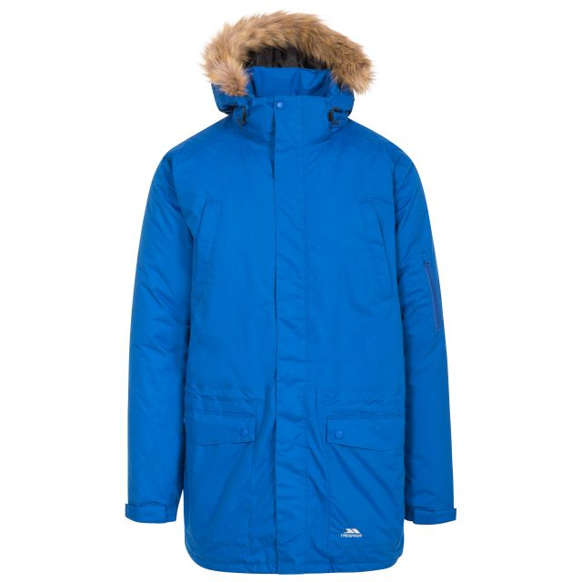 Jaydin Men's Waterproof Parka Jacket in Blue