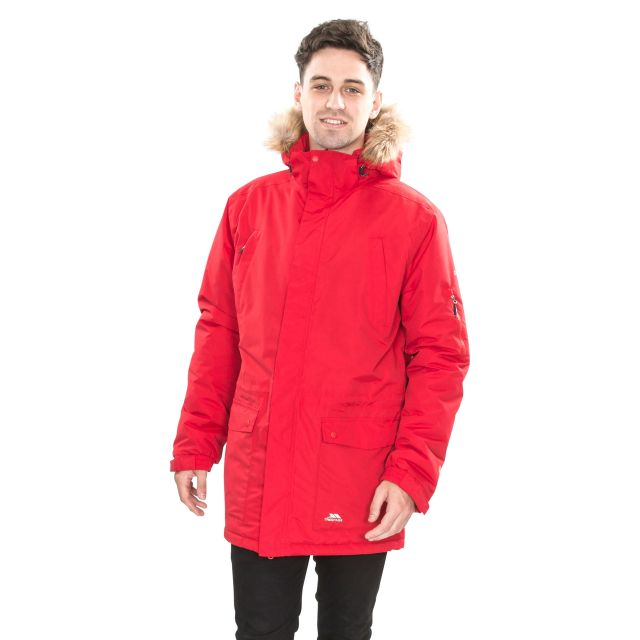 Jaydin Men's Waterproof Parka Jacket - RED