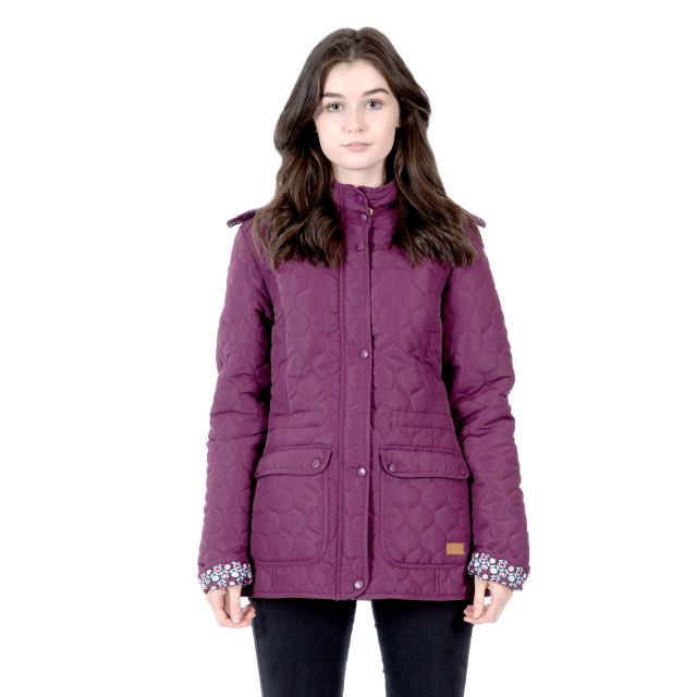 Trespass Womens Casual Jacket Jenna in Burgundy