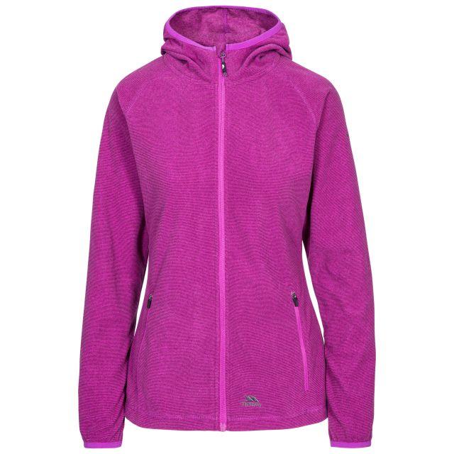 Jennings Women's Fleece Hoodie in Purple, Front view on mannequin