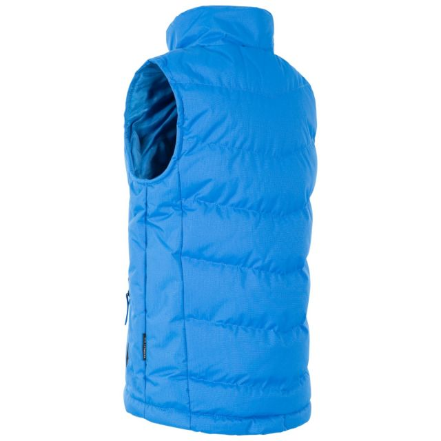Trespass Kids Padded Gilet Jacket in Light Blue Jetty