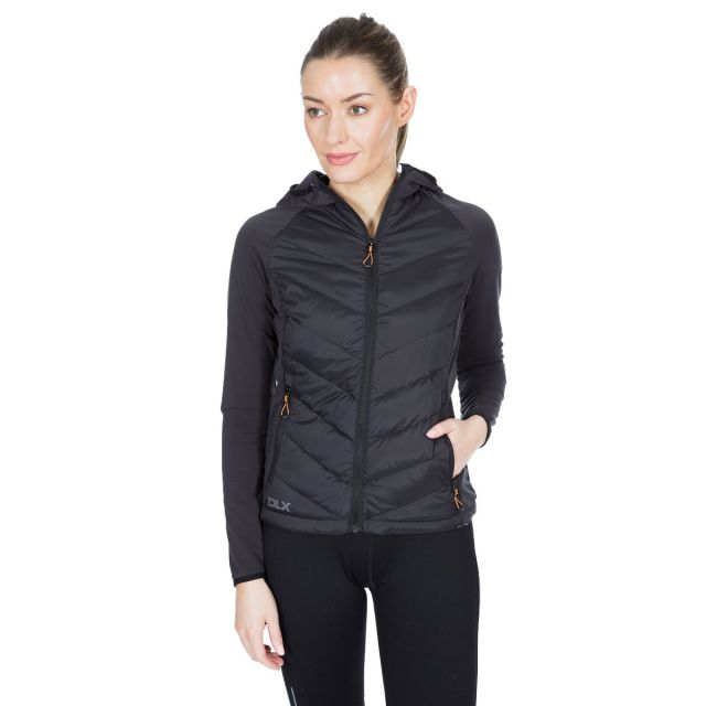 DLX Womens Down Jacket Hooded Joyce in Black