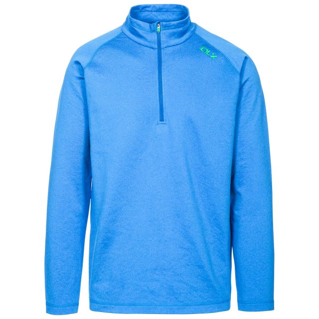 Jozef Men's DLX Quick Dry Active Top in Blue