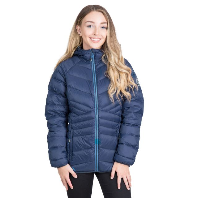 Trespass Womens Down Jacket Hooded Julieta in Navy