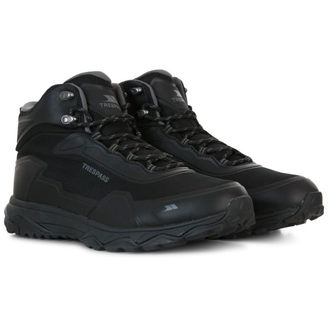 Trespass Mens Walking Boots Waterproof Mid-Cut Kakaraka Black