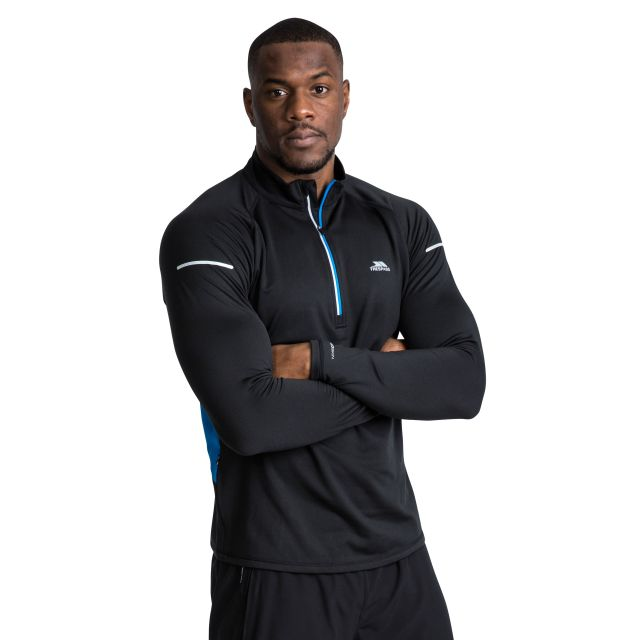Keenan II Men's Quick Dry Active Top in Black