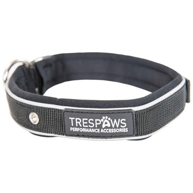 Keira Medium Reflective Neoprene Dog Collar in Black