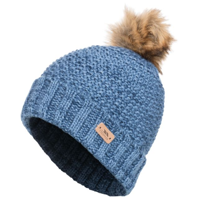 Kellisa Women's Bobble Hat in Blue