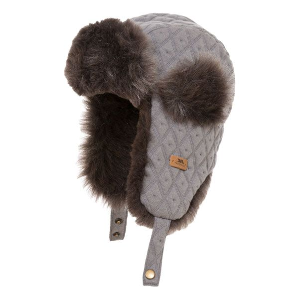 Kendall Kids' Faux Fur Lined Trapper Hat in Grey