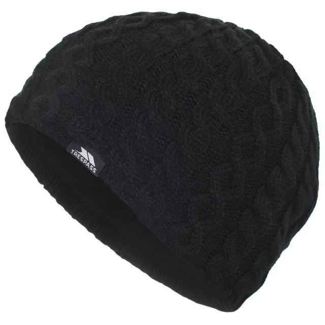 Kendra Women's Knitted Beanie Hat in Black
