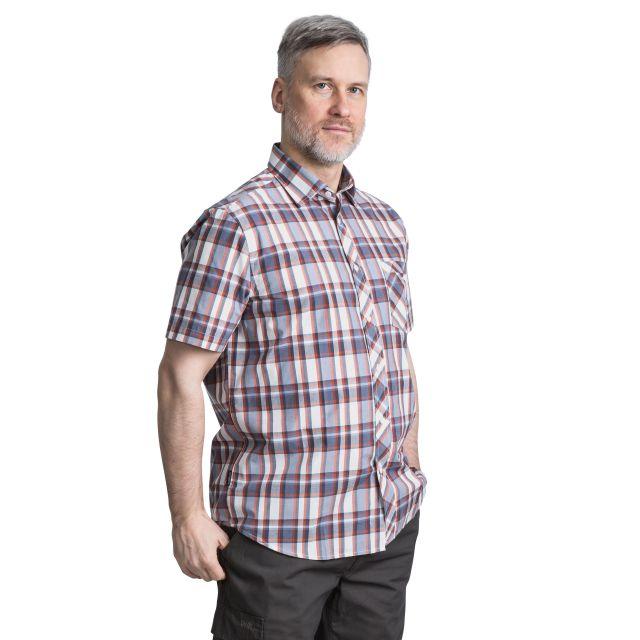 Kenora Men's Short Sleeve Checked Shirt in Orange
