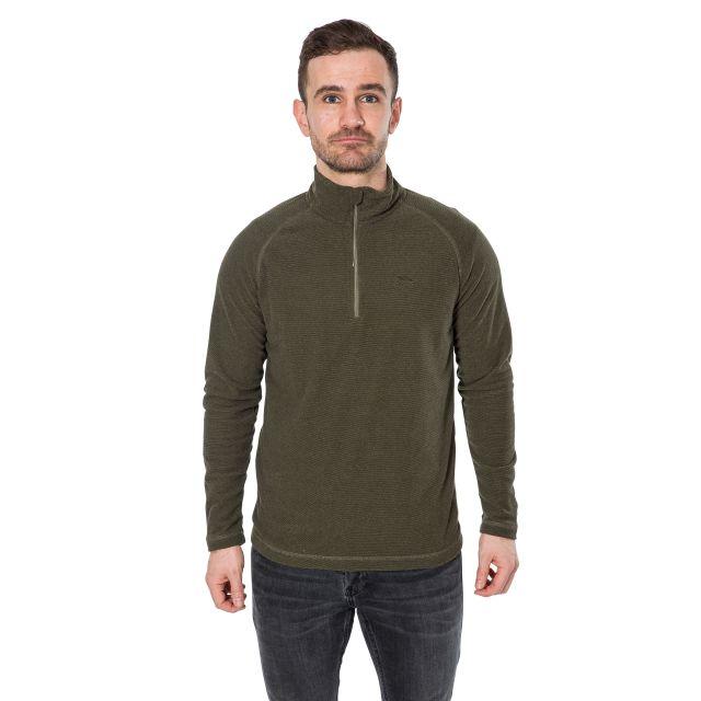 Keynote Men's 1/2 Zip Fleece in Khaki