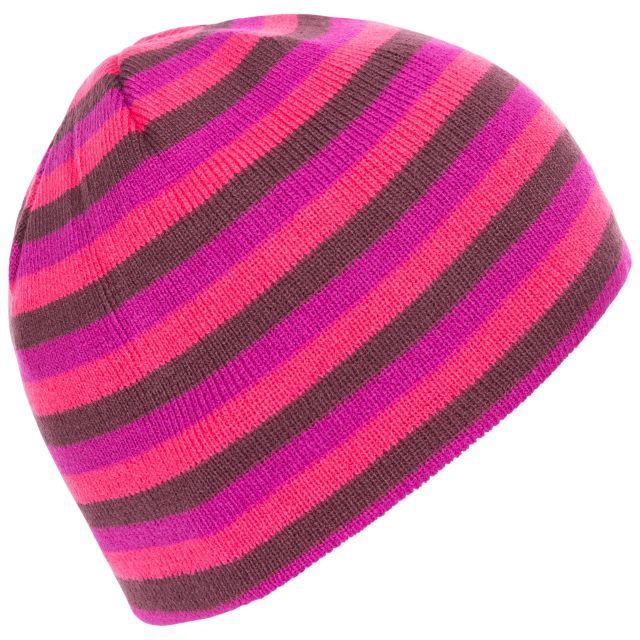 Kezia Unisex Reversible Knitted Beanie Hat in Purple