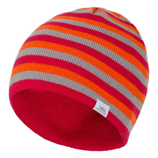 Kezia Adults' Reversible Knitted Beanie Hat in Pink