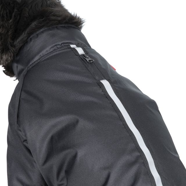 Khaos Medium Waterproof Dog Coat in Black