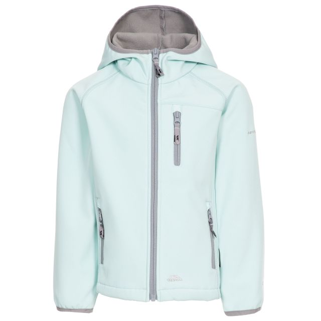 Kian Kids' Softshell Jacket in Light Green