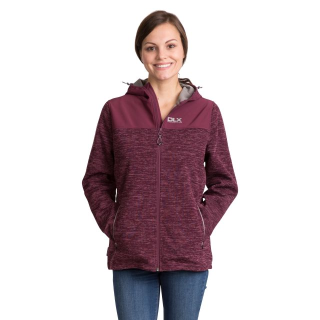 Kirsti Women's DLX Breathable Softshell Jacket in Purple