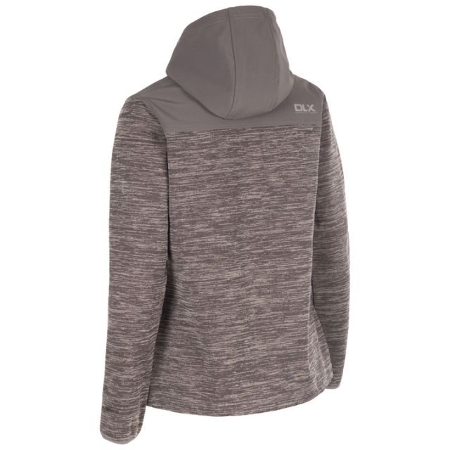 DLX Womens  Softshell Jacket Breathable Kirsti in Grey