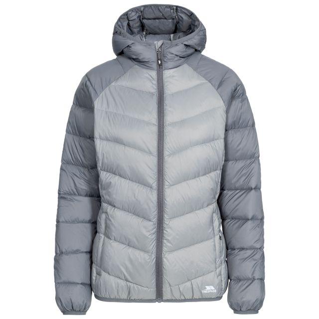 Kirstin Women's Hooded Down Jacket  in Grey