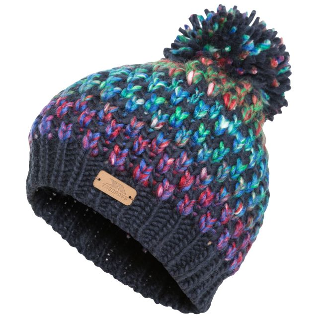 Kresteva Kids' Unisex Knitted Hat with Pom Pom in Navy