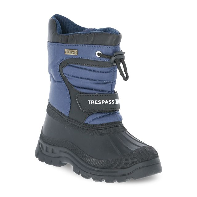 Kukun Kids' Waterproof Snow Boots in Navy