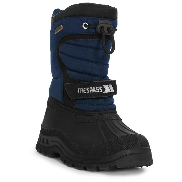Kukun Youths' Waterproof Snow Boots in Navy