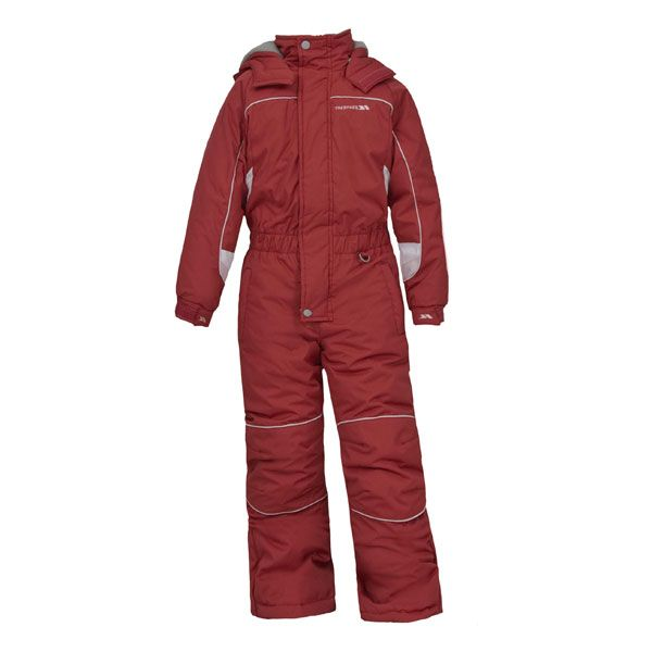 Laguna Kids' Padded Ski Suit in Red
