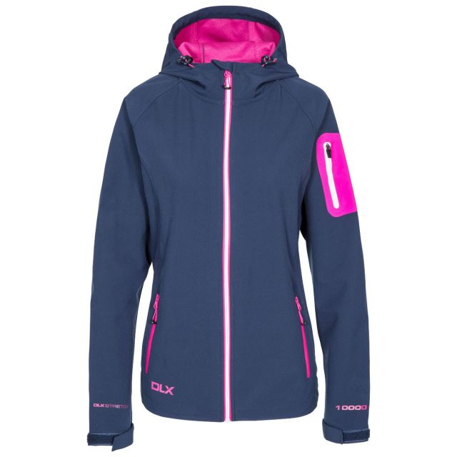 DLX Womens Softshell Jacket Landry in Navy