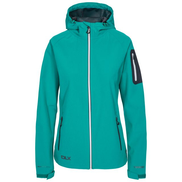 DLX Womens Softshell Jacket Landry in Green