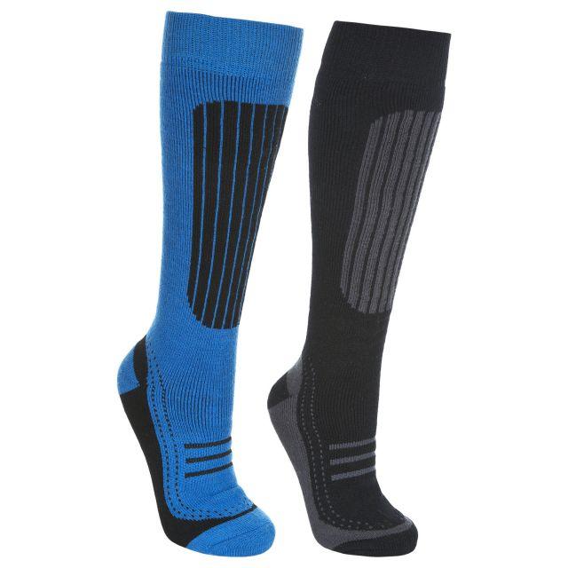 Langdon II Unisex Tube Socks - 2 pack in Black